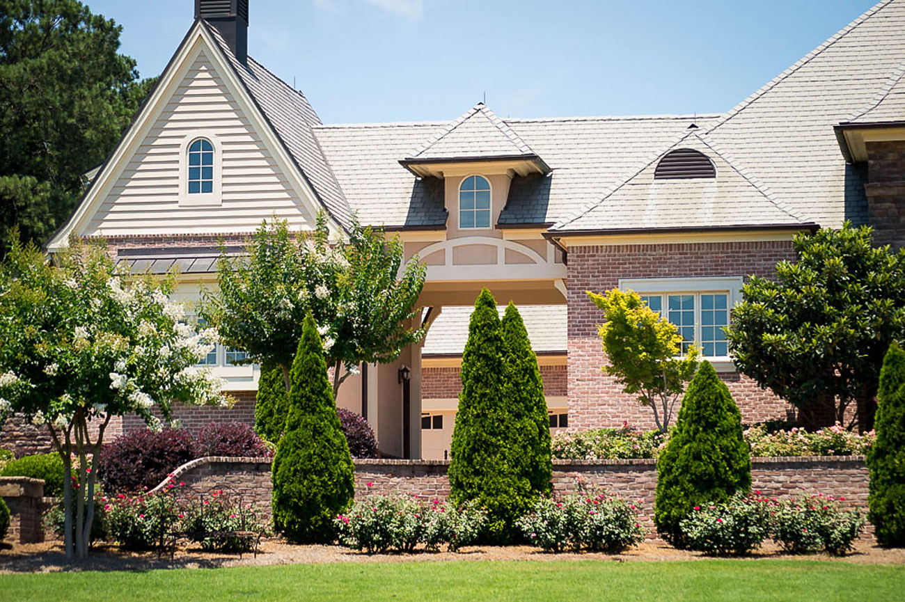 Residential landscaping at Augusta, GA mansion and estate.