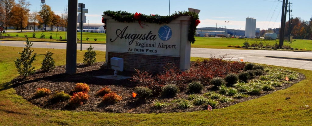 Entry Corridor Landscaping at Augusta Regional Airport 11