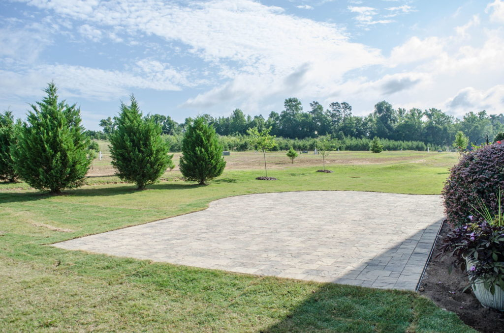 Patio & Backyard Landscape at North Augusta, SC Home 6