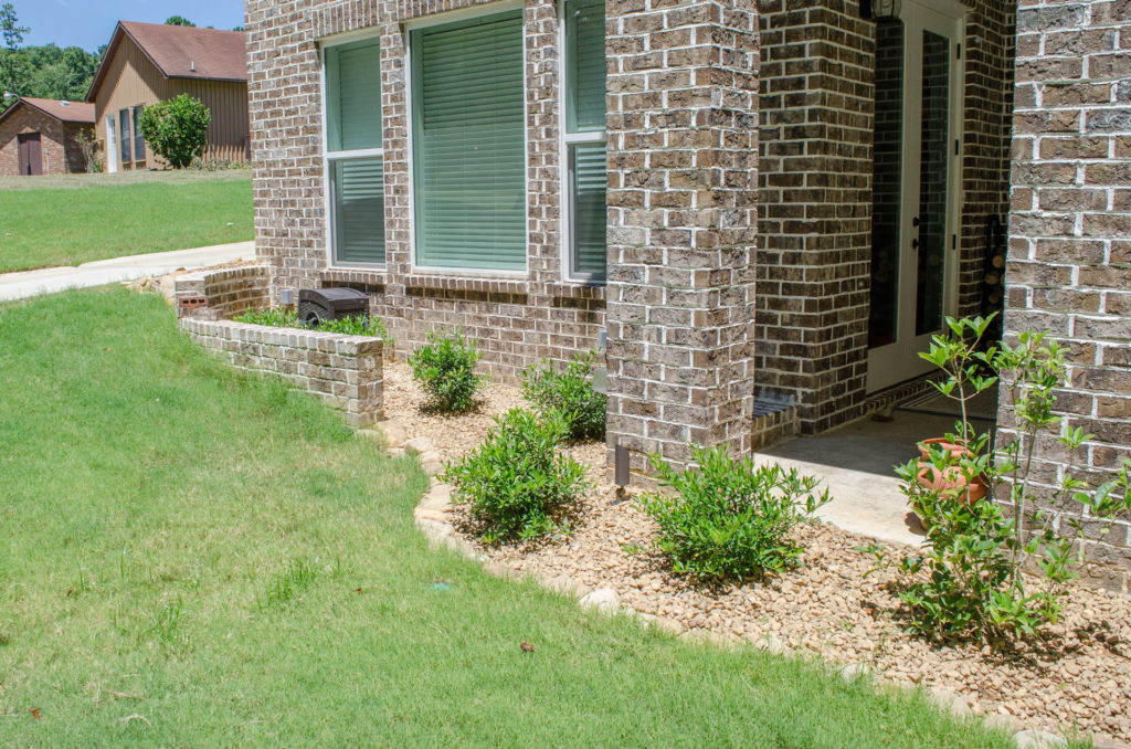 Appling, GA Flower Bed & Walkway Landscape Design 7
