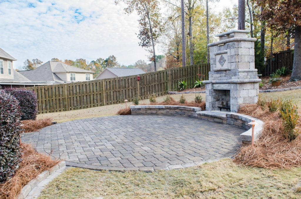 Eye-Catching Outdoor Fireplace Installation in Augusta, GA 1