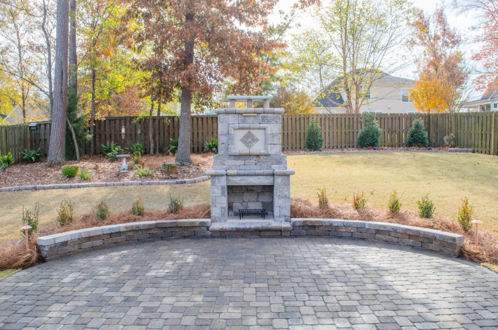 Eye-Catching Outdoor Fireplace Installation in Augusta, GA 2