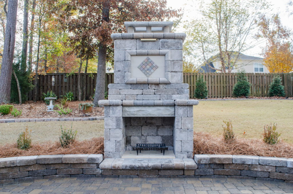 Eye-Catching Outdoor Fireplace Installation in Augusta, GA 4