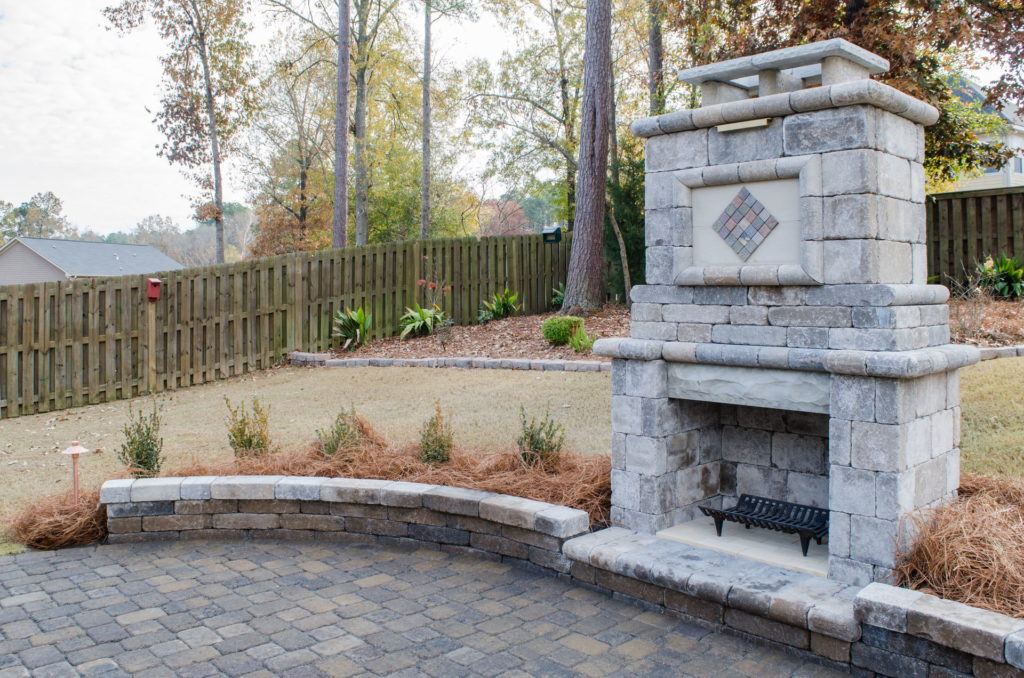 Eye-Catching Outdoor Fireplace Installation in Augusta, GA 5