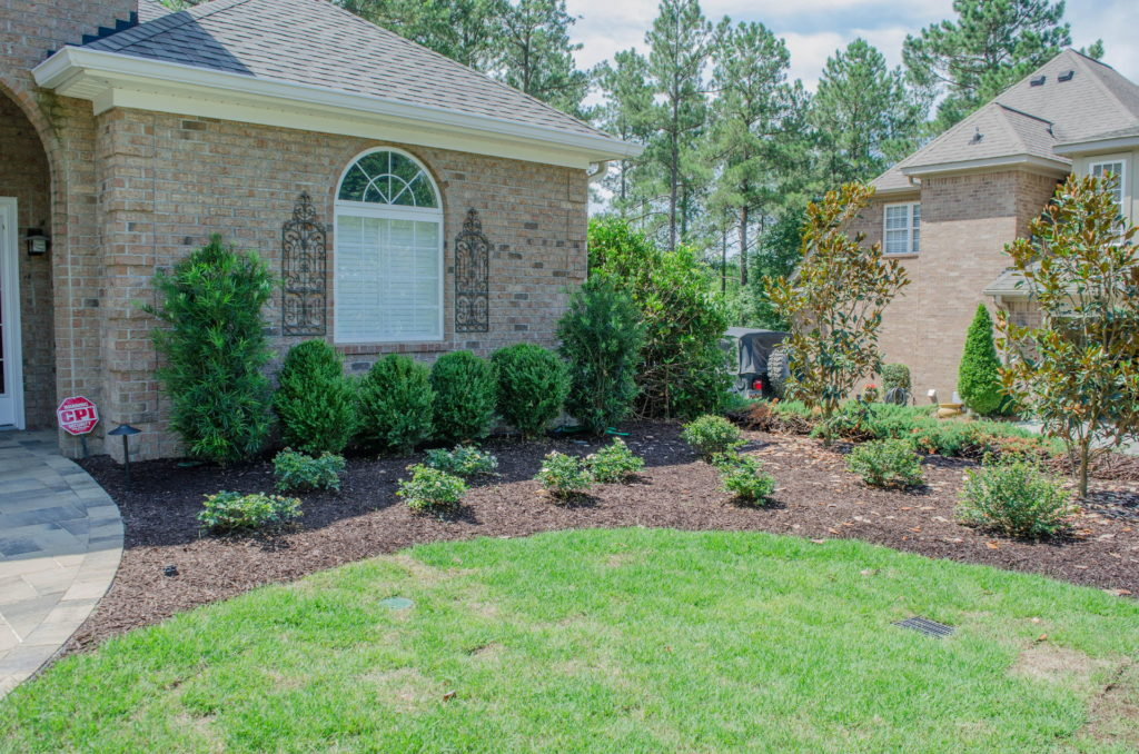 Beautiful Sod, Bed, and Paver Work at This Aiken, SC Property. 4
