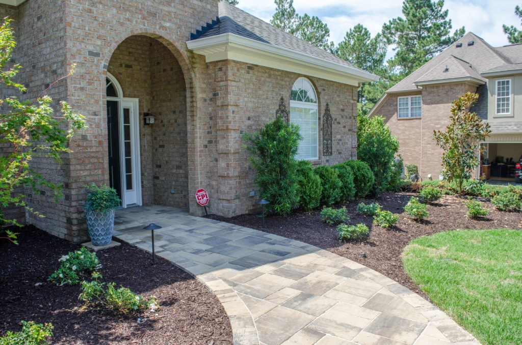 Beautiful Sod, Bed, and Paver Work at This Aiken, SC Property. 5