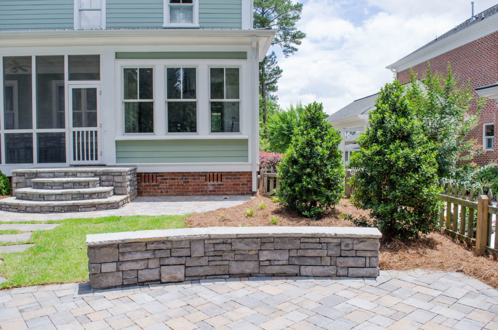North Augusta, SC Stone Pathways, Patio, and Outdoor Fireplace 1