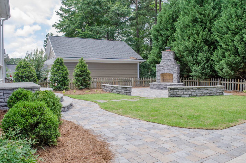 North Augusta, SC Stone Pathways, Patio, and Outdoor Fireplace 11