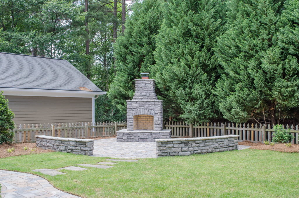 North Augusta, SC Stone Pathways, Patio, and Outdoor Fireplace 13