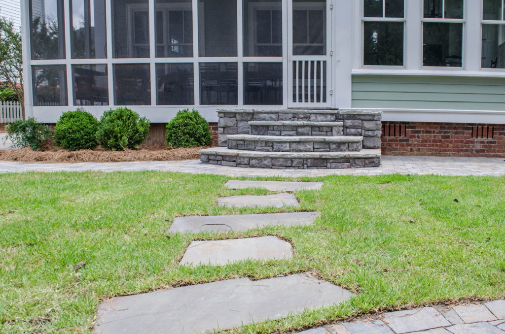 North Augusta, SC Stone Pathways, Patio, and Outdoor Fireplace 4