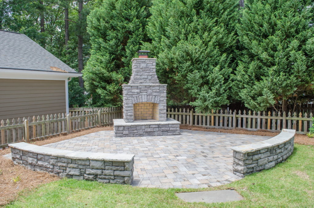 North Augusta, SC Stone Pathways, Patio, and Outdoor Fireplace 6