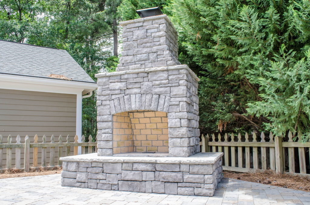 North Augusta, SC Stone Pathways, Patio, and Outdoor Fireplace 7
