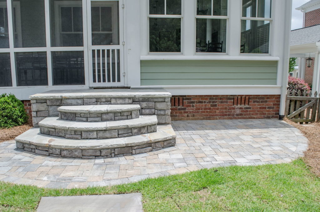 North Augusta, SC Stone Pathways, Patio, and Outdoor Fireplace 9