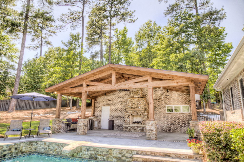 Incredible Evans, GA Poolscape and Outdoor Living Space 5