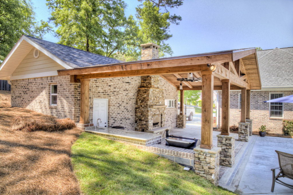 Incredible Evans, GA Poolscape and Outdoor Living Space 7