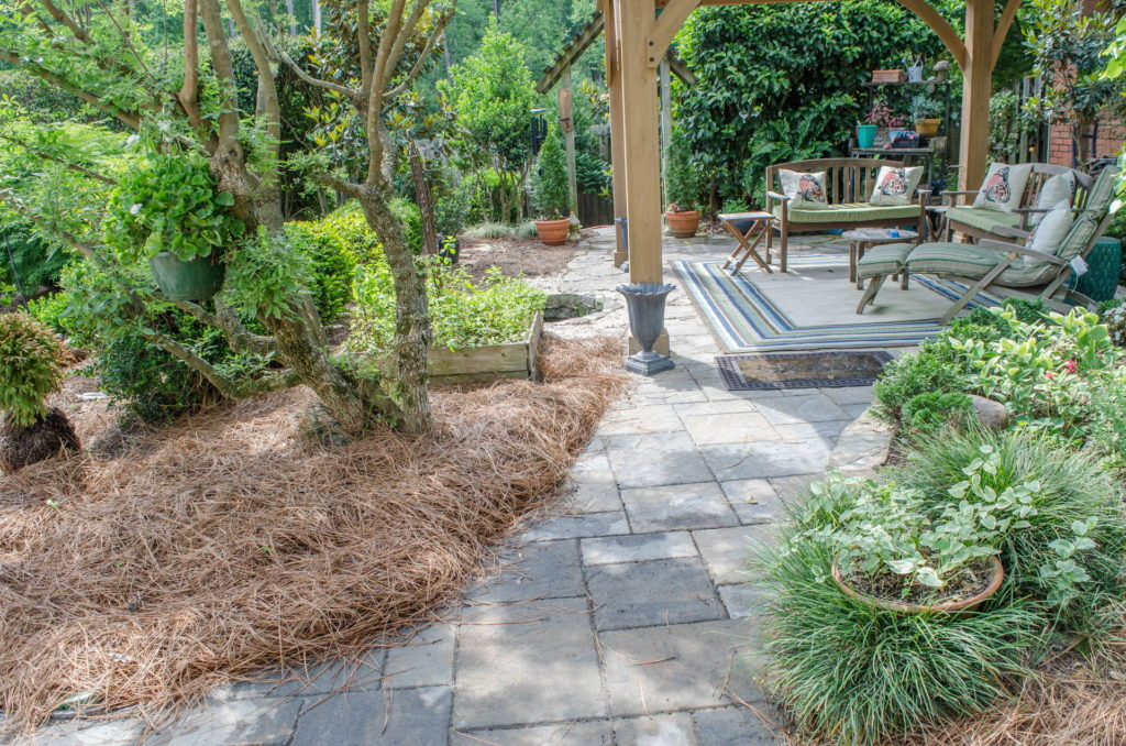 Incredible Augusta, GA Backyard Flower Garden, Fountain, and Patio 5