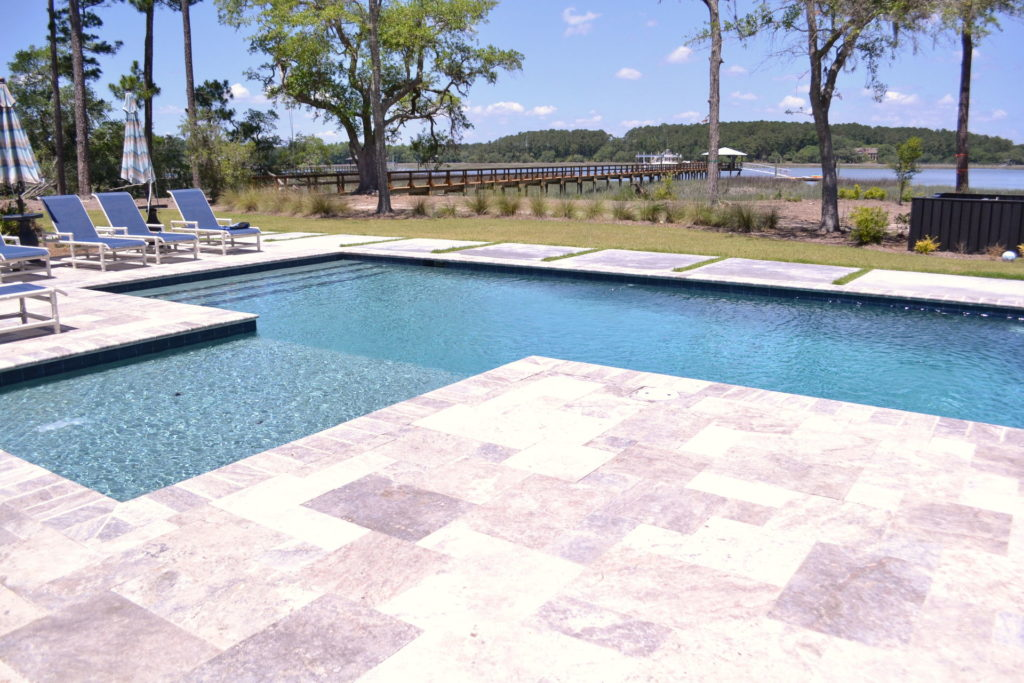 Gorgeous Poolscape and Outdoor Kitchen in Bluffton, SC 12