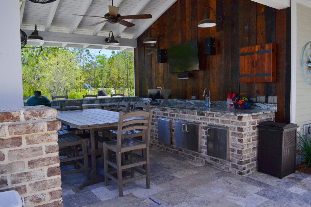 Gorgeous Poolscape and Outdoor Kitchen in Bluffton, SC 4