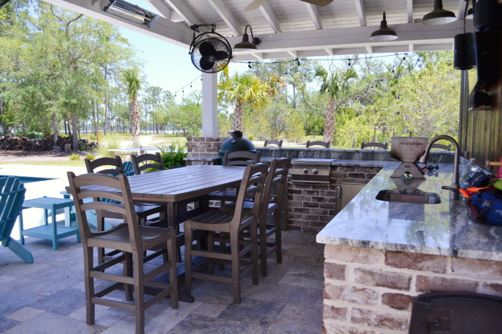 Gorgeous Poolscape and Outdoor Kitchen in Bluffton, SC 3
