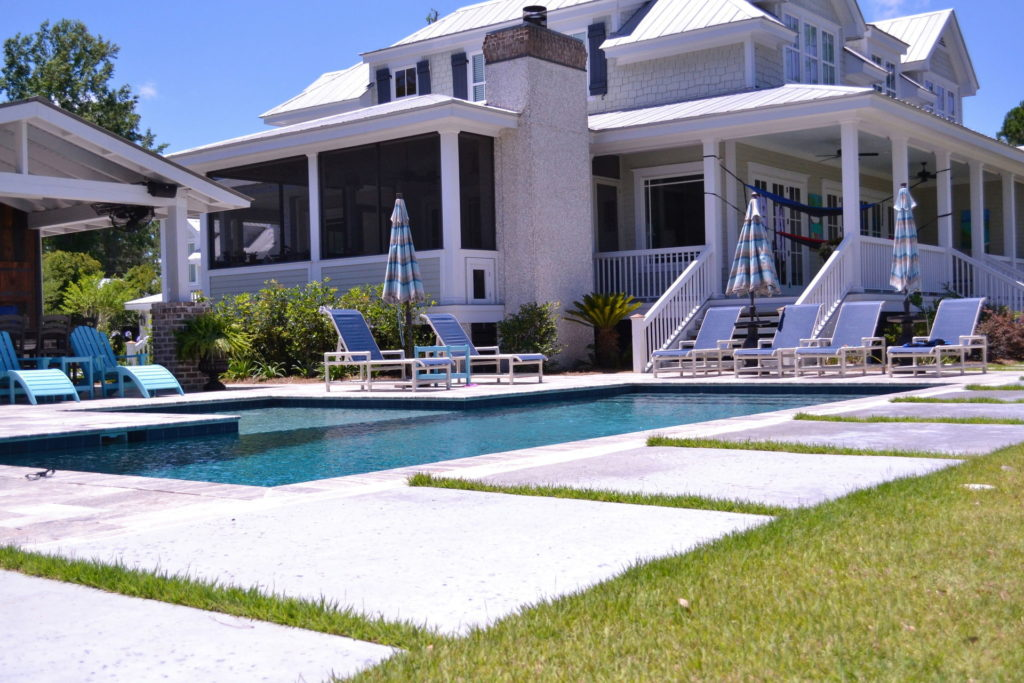 Gorgeous Poolscape and Outdoor Kitchen in Bluffton, SC 11