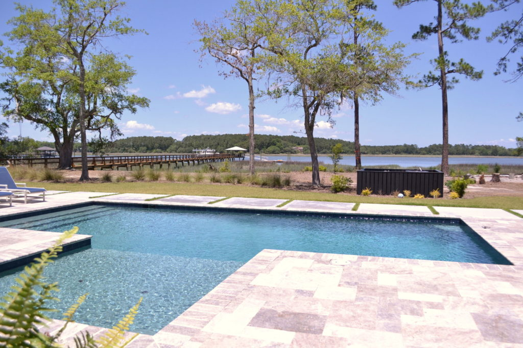 Gorgeous Poolscape and Outdoor Kitchen in Bluffton, SC 7
