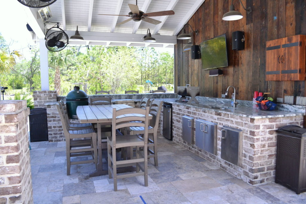Gorgeous Poolscape and Outdoor Kitchen in Bluffton, SC 8
