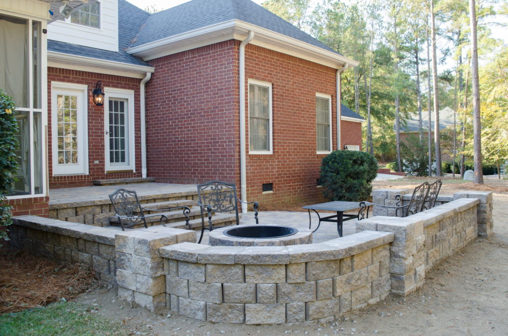 Outdoor Patio & Fire Pit Area at Augusta, GA Home 4