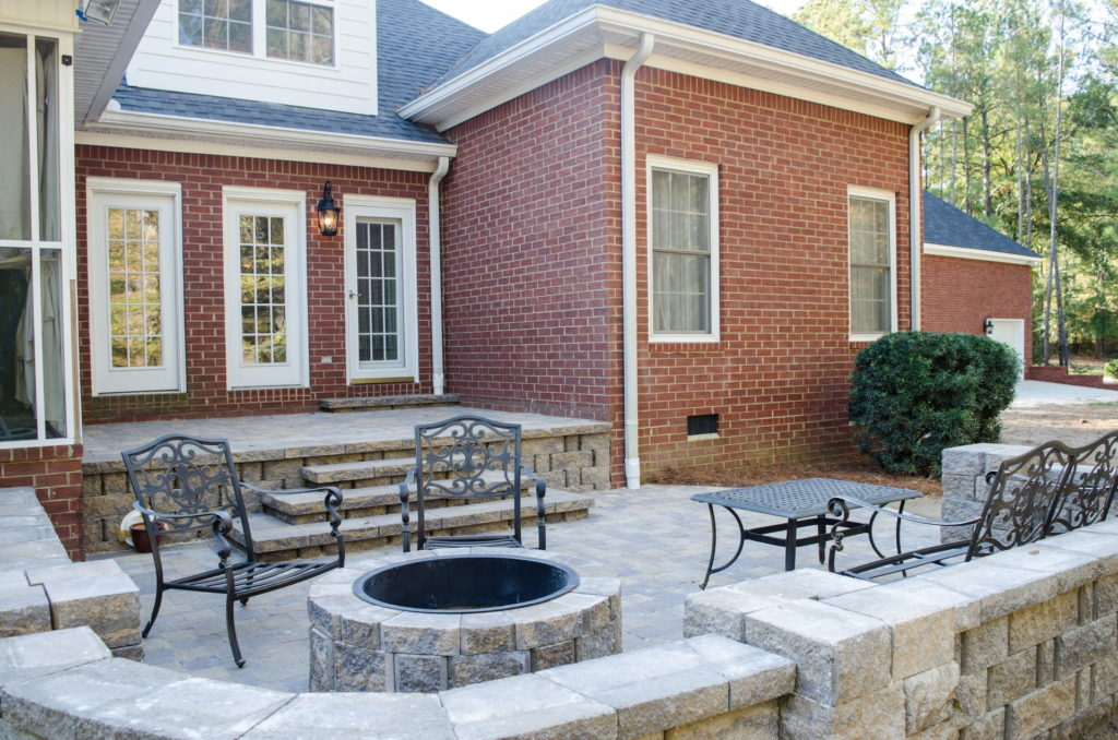 Outdoor Patio & Fire Pit Area at Augusta, GA Home 5
