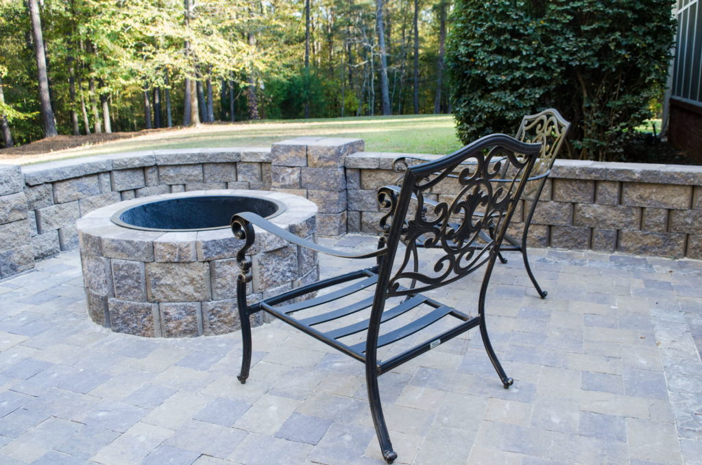 Outdoor Patio & Fire Pit Area at Augusta, GA Home 7