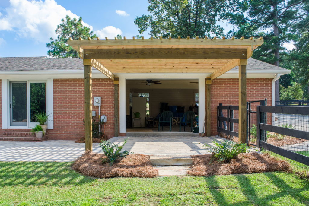 Amazing Pergola and Patio Combination at Augusta, GA Home 1