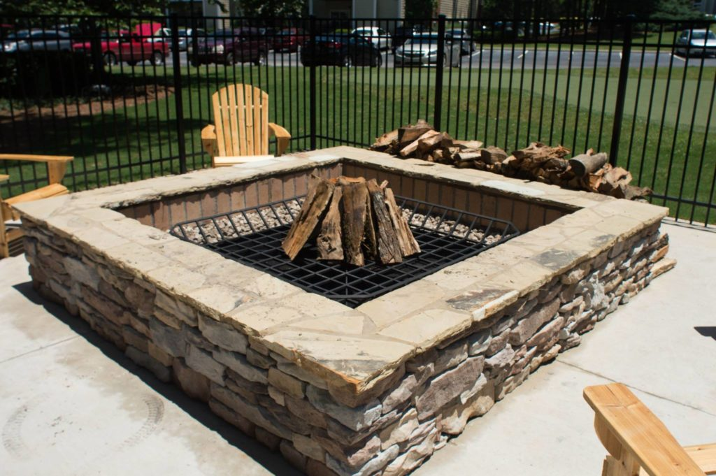 Evans, GA Covered Outdoor Kitchen and Fire Pit Project 2